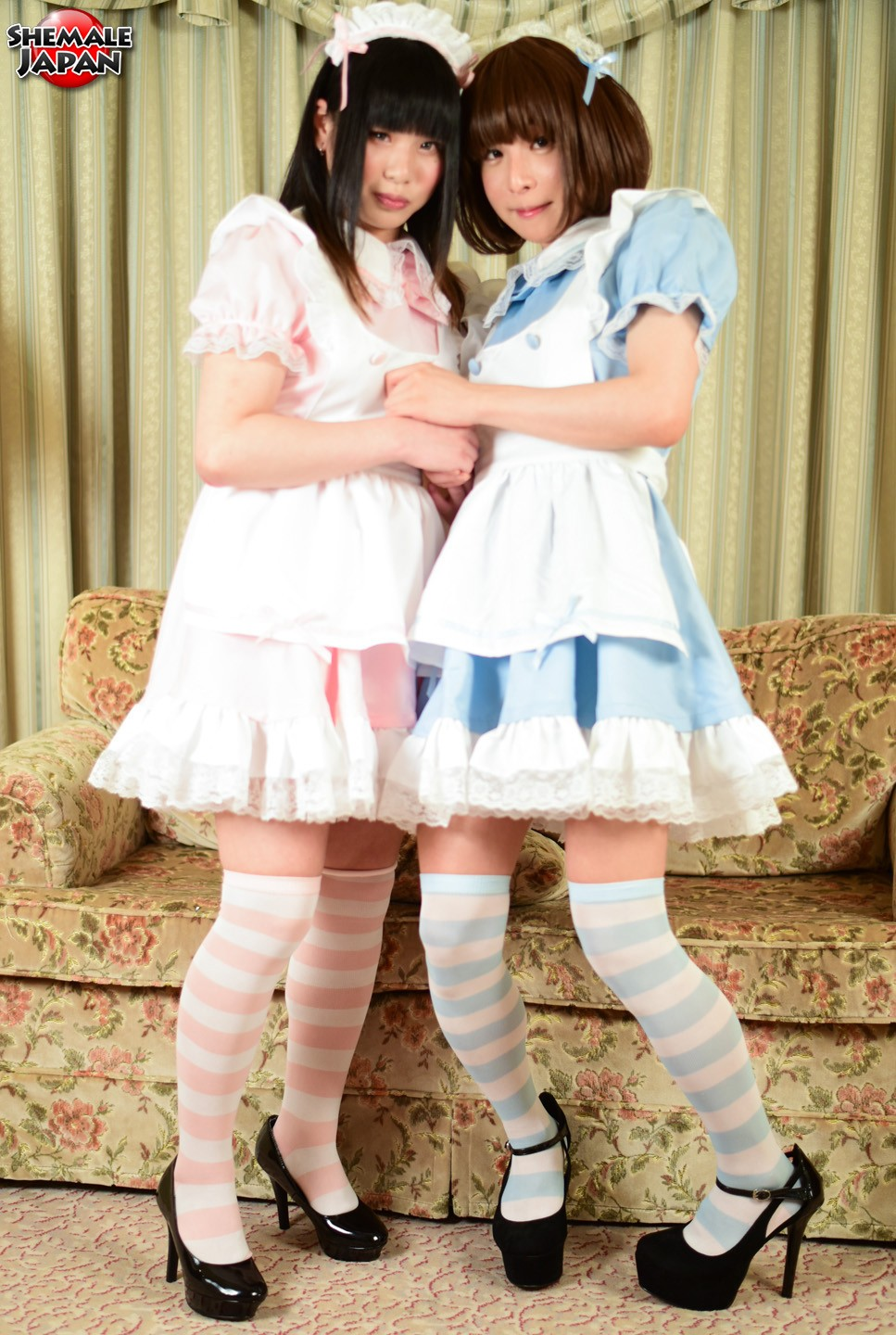 Japanese Shemale Cosplay Fuck Party with Himena and Miharu
